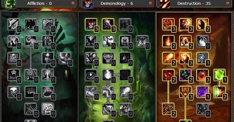 warlock pvp talent destruction wow cataclysm build pve guide leveling cata