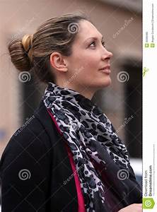 Beautiful Woman Profile Pride Stock Photo