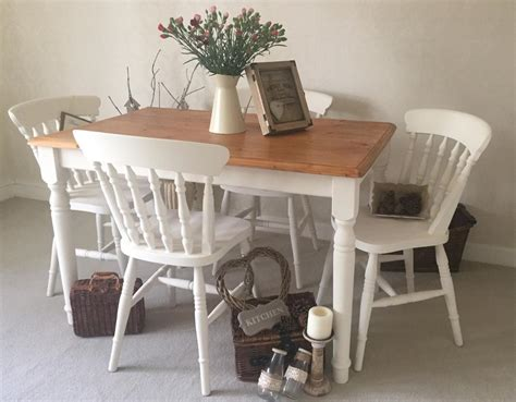 shabby chic table and chairs shabby chic farmhouse table and chairs kitchen dining