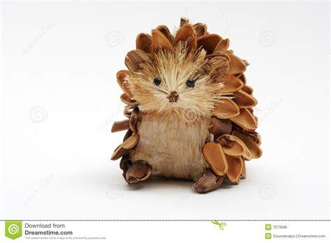 pine cone hedgehog stock photo image  seasonal