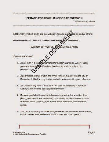 possession letter format ideas   house letter