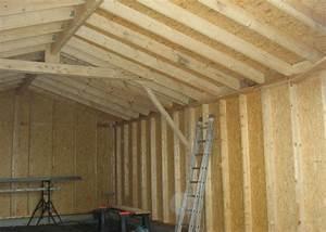 photo realisation menuiserie amm belleville sur vie With plan de garage en bois