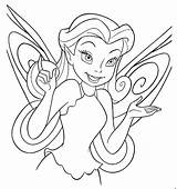 Coloring Disney Fairy Pages Fairies Printable Print Sheet Face Pixie Tinkerbell Disneyland Cute Comments sketch template