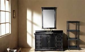 Meuble Bois Et Noir : salle de bain ancienne un charme authentique et irr sistible ~ Teatrodelosmanantiales.com Idées de Décoration