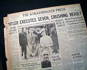 Night of the Long Knives in 1934... - RareNewspapers.com