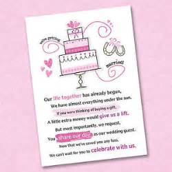 how to ask for money as a wedding gift bridal shower invitations bridal shower invitations asking for money