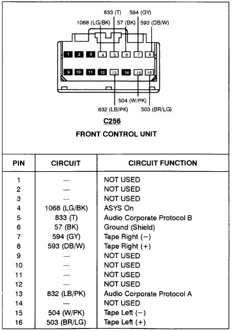 Crunch Sub Wiring Diagram by Need The Wire Harness Color Code For A Ford Explorer