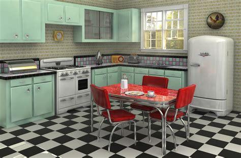 cuisine vintage 馥s 50 aménagement cuisine rétro