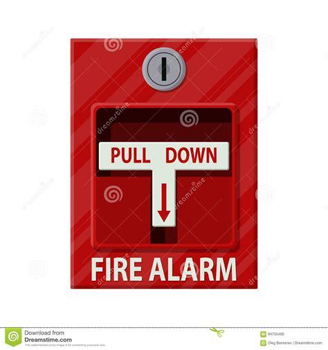 alarme bureau système d 39 alarme d 39 incendie équipement du feu illustration