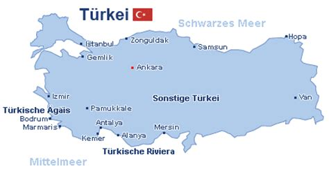 Türkische ägäis Karte