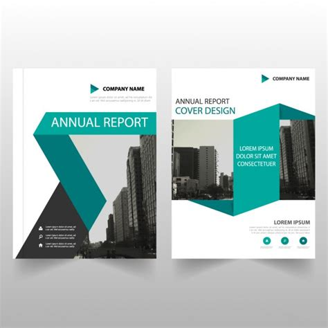 business brochure templates business brochure template with blue ribbons vector free