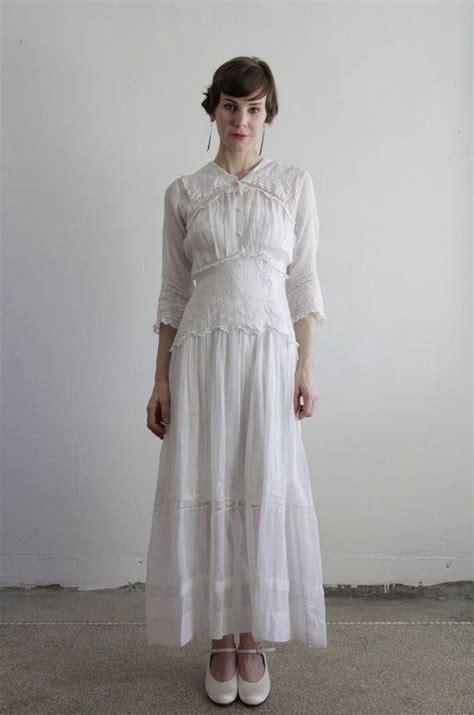 1900s edwardian gown antique dress cotton vintage