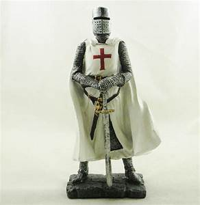 Crusader Knight Medieval Figure White Costume with Red ...