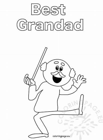 Printable Grandad Birthday Coloring