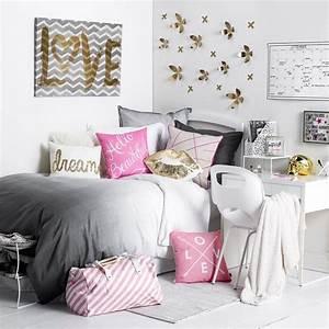 chambre ado fille en 65 idees de decoration en couleurs With idees chambre ado fille
