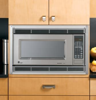 ge jxss   built  trim kit   cu ft microwave ovens stainless steel