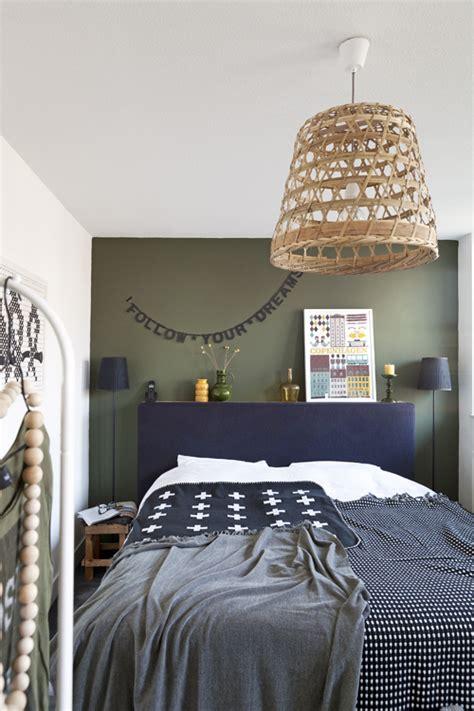 chambre kaki des murs de couleur dans une chambre mariekke