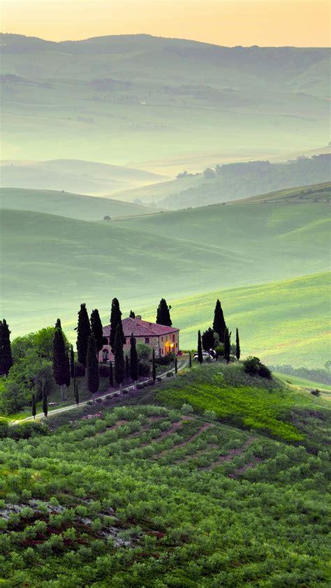 wallpaper tuscany landscape italy  world