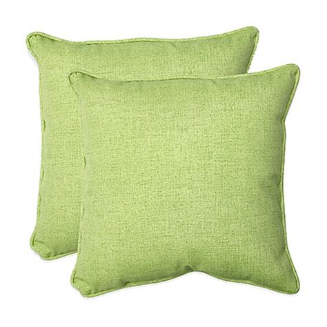 lime green throw pillows baja lime green square throw pillows set of 2 bed bath
