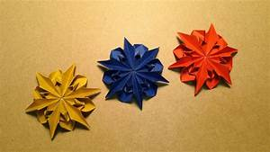 Origami Flower Instructions    Dahlia 2