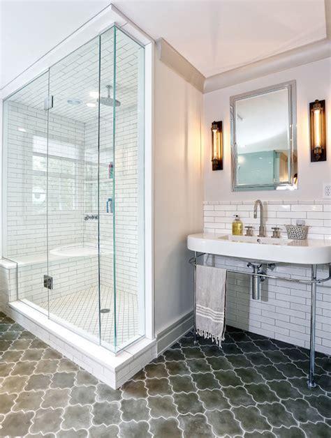 Moroccan Bathroom Floor Tiles by Moroccan Floor Tiles Contemporary Bathroom Derosa