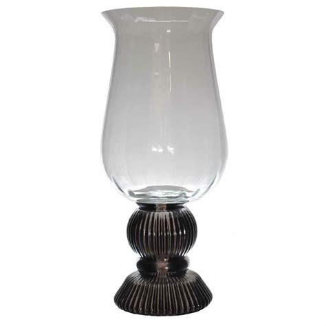 silver hurricane candle holders 29cm vintage style silver base hurricane lantern glass