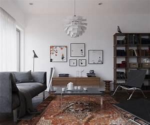 Scandinavian, Interior, 3d, Visualization