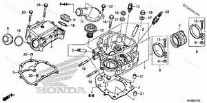 Honda Atv 2016 Oem Parts Diagram For Cylinder Head