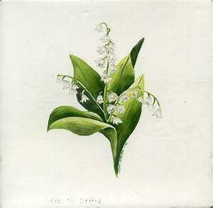 Hand Crafted Lily Of The Valley by Tiles By Jkozlak