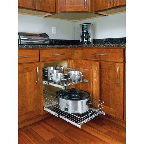 kitchen island with table rev a shelf 19 in h x 14 75 in w x 22 in d base cabinet