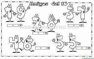 Los amigos del 10 Actividades para imprimir (II) Web del maestro