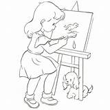 Easel Coloring Books sketch template