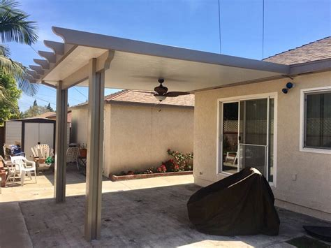 Duralum Solid Patio Cover In Driftwood & White With