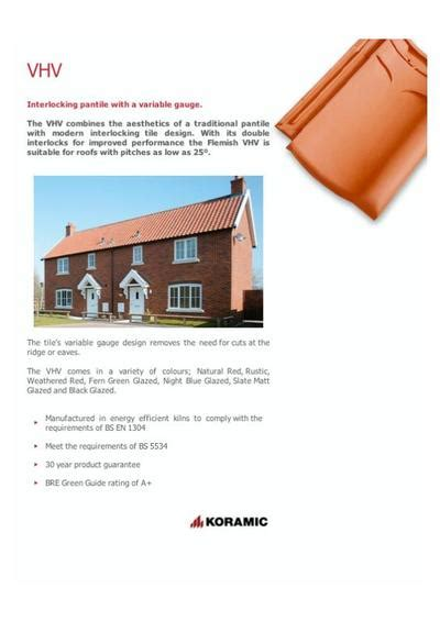 vhv interlocking variable gauge pantiles sandtoft roof
