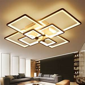 Designer Lampen Wohnzimmer : buy new square rings designer modern led ceiling lights lamp for living room ~ Whattoseeinmadrid.com Haus und Dekorationen