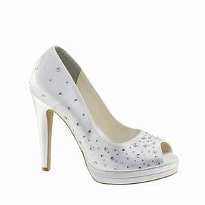 CYNDI Dyeable Satin Rhinestone Bridal Shoes EBay