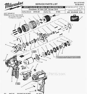 Milwaukee 2410-20 Parts List And Diagram