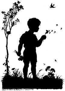 kids blowing bubbles silhouette clipart clipground