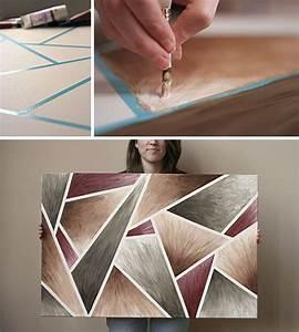 DIY: Easy-Peasy Artwork | White acrylic paint, Masking ...