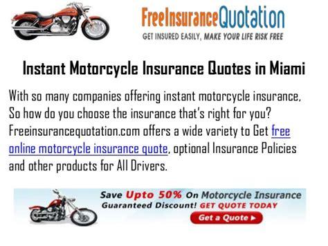 Cheap Motorcycle Insurance Miami