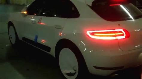 porsche headlights at night porsche macan s turbo youtube