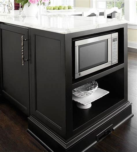 microwave in kitchen island 31 smart kitchen islands with built in appliances digsdigs