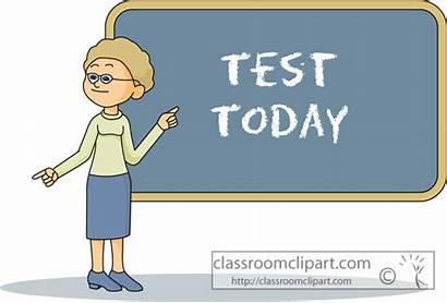 Test Clipart Teacher Today Chalkboard Clip Classroom