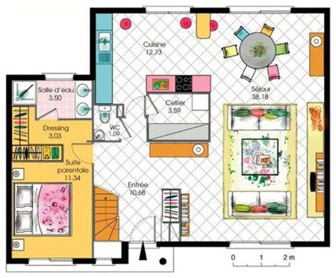 plan de maison avec cuisine ouverte maison de 7 pièces avec cuisine ouverte surface