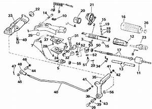 Evinrude Steering And Shift Handle Parts For 1991 25hp