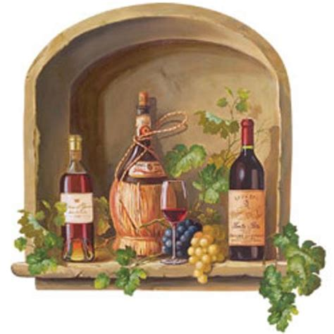 wine alcove wallies mural  wallpaper border