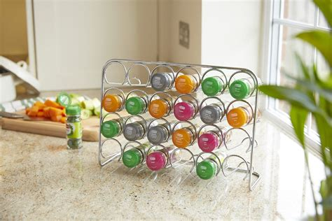 Silver Spice Rack by Hahn Pisa Chrome Silver Spice Rack Holder 12 18 Or 24 Jar