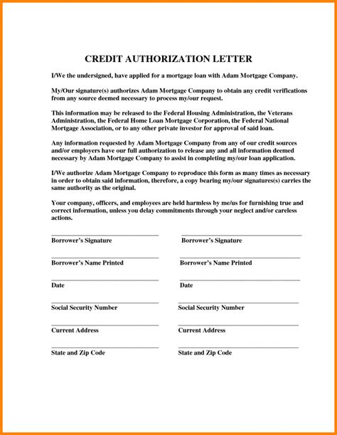 sample authorization letter  credit card