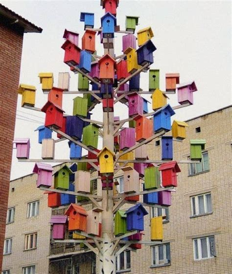 choose  favorite bird house upcycle art