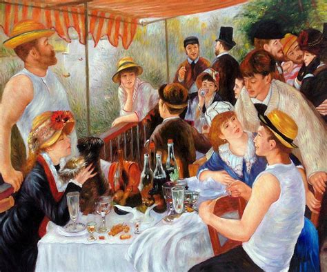 Pierre Auguste Renoir Boating Party by Renoir Luncheon Of The Boating Party Reproduction